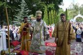 Митрополит Никодим очолив престольне свято Іліїнського кафедрального собору Чорнобильської зони відчудження!