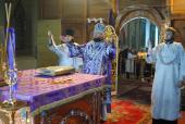 Літургія у Свято-Успенському архієрейському соборі міста Житомира.