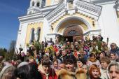 Неділя Вербна. Архієрейське богослужіння у кафедральному соборі міста Житомира