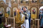 """У Коростишівському благочинні відбулось овячення храму в честь ікони Божої Матері """"Знамення""""."""