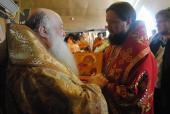 Єпископ Никодим привітав митрополита Нифонта із Днем Ангела.