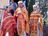 Богослужение в селе Солнечное.