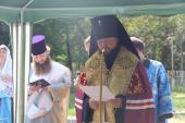 Освячення заснування храмів та встановлення Хрестів архієрейським чином у селах Осиковому і Великій П'ятигірці