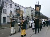 На Різдво Христове вулицями Бердичева пройшов Хресний хід