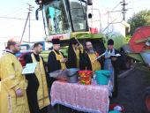 У селі Бистрику звершено молебень із чином освячення сільськогосподарської техніки