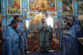Вільха. Архієпископ Никодим очолив Божественну літургію святителя Іоанна Златоустого у Свято-Покровському храмі.