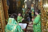 Трійця. Архієрейське богослужіння у Спасо-Преображенському кафедральному соборі!