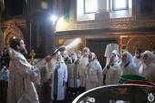 В день Навечір'я Богоявлення митрополит Никодим звершив святу літургію та велике освячення води у Спасо-Преображенському кафедральному соборі.