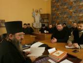 У Велику середу Страсної седмиці після Божественної Літургії Напередосвячених Дарів пройшли збори духовенства Бердичівського благочиння
