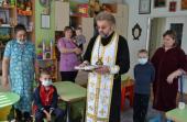Хворі діти причастилися Святих Христових Таїн.