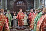 Владика Никодим звершив літургію у городницькому монастирі.