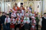 Святкова літургія в Свято-Троїцькому храмі м. Коростишів.
