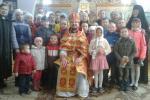 Праздничная Божественная литургия в с. Быстра.