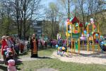 Освячення ігрового майданчика у дитячому садочку.
