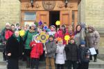 У перший день Нового року юних парафіян Свято-Миколаївського собору привітав благочинний Бердичівського округу протоієрей Віталій Бойков