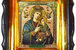 Явление на водах Страстной иконы Богородицы в городе Коростышеве.